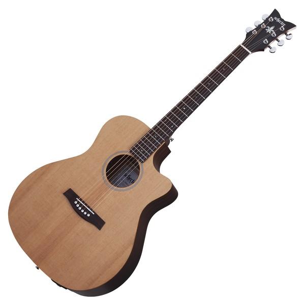 Schecter Deluxe Acoustic Guitar, Natural Satin