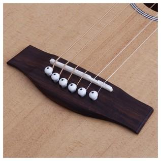 Schecter Deluxe Acoustic Guitar, Bone Saddle