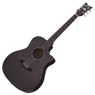 Schecter Deluxe Acoustic Guitar, Satin See Thru Black