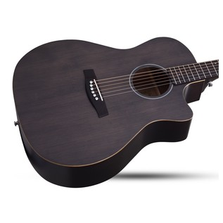 Schecter Deluxe Acoustic Guitar, See Through Black