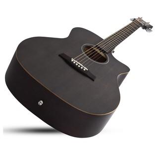 Schecter Deluxe Guitar, See Thru Black