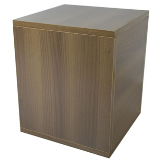 Sefour Carry Box for 115 Records, Tobacco Walnut - Rear