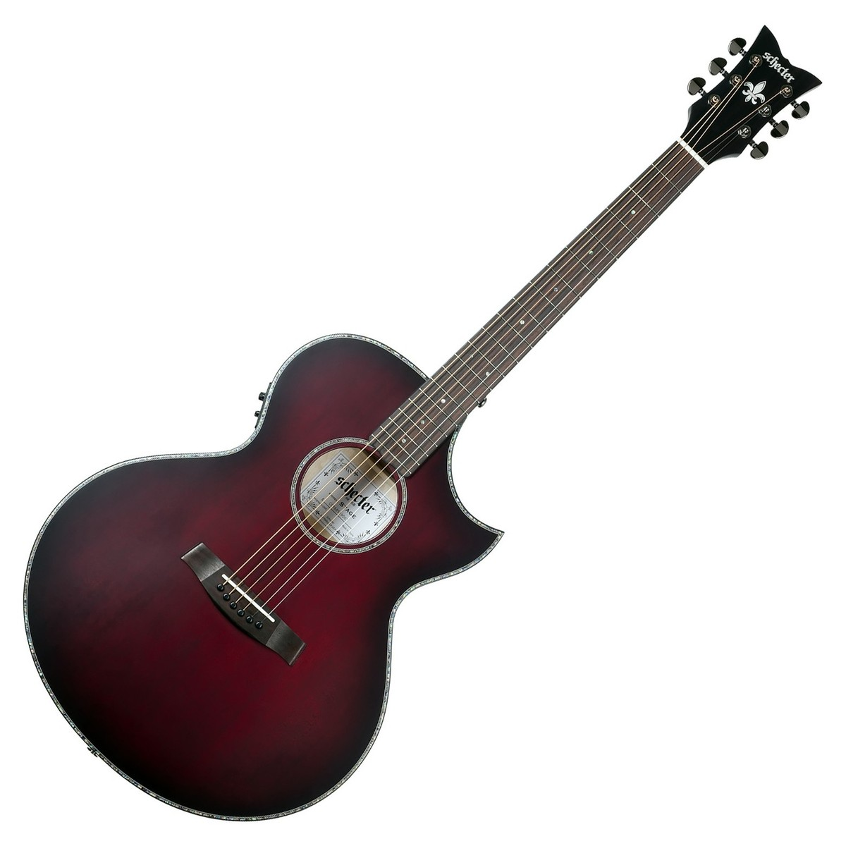 schecter orleans stage acoustic guitar vampyre red burst satin at gear4music. Black Bedroom Furniture Sets. Home Design Ideas