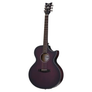 Schecter Orleans Stage Acoustic Guitar, Vampyre Red Burst