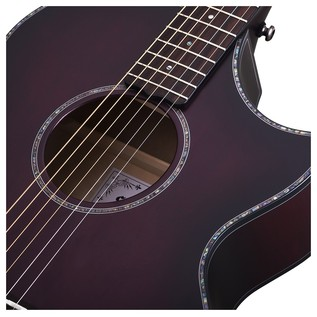 Orleans Stage Acoustic Guitar, Vampyre Red Burst