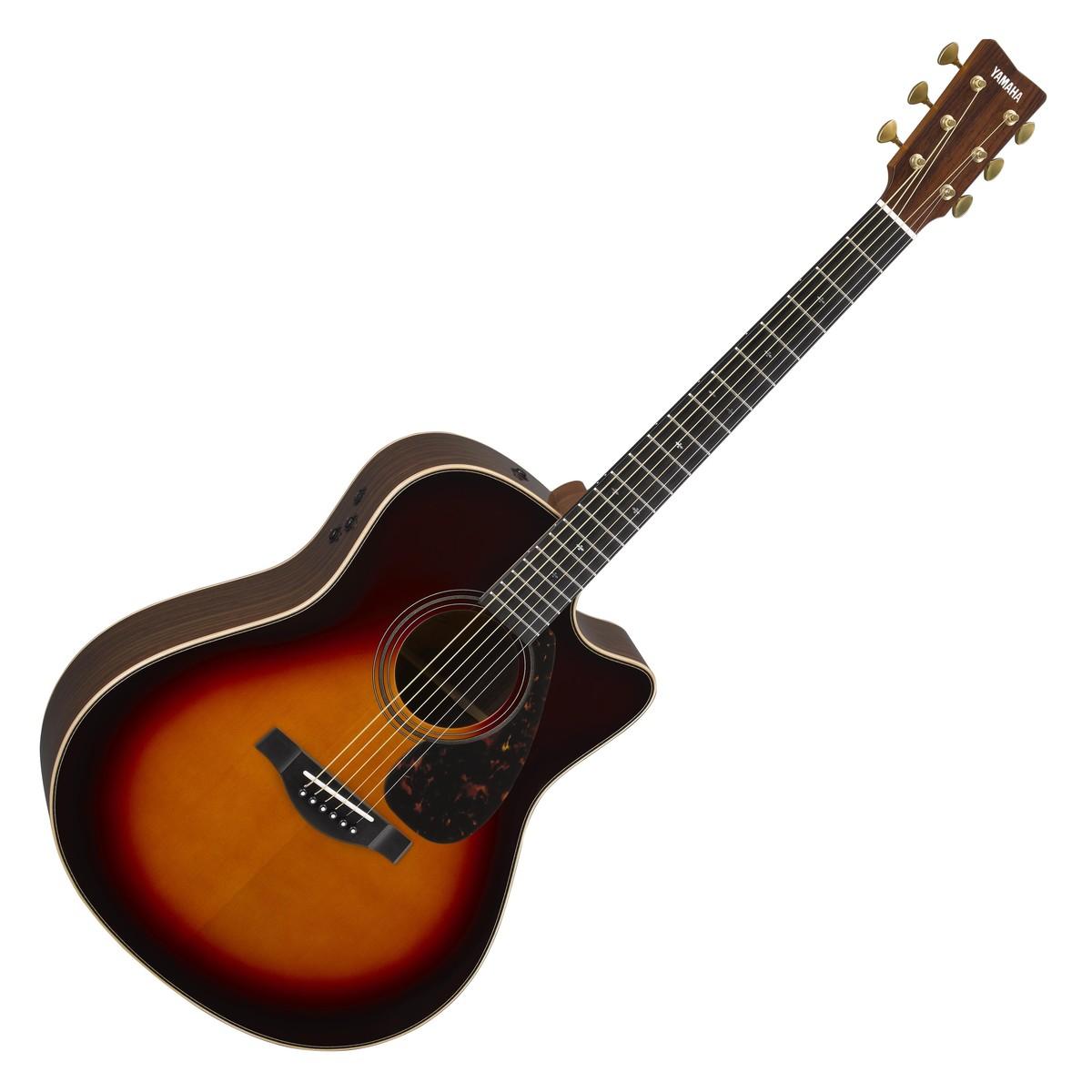 Yamaha gllx26careiitbs electro acoustic guitar tobacco for Acoustic yamaha guitar