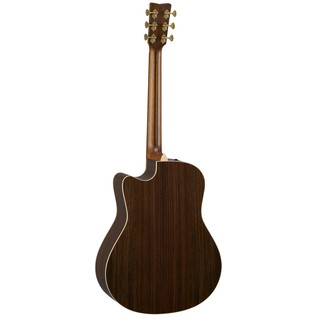 Yamaha GLLX26CAREIITBS Electro Acoustic Guitar, Tobacco Sunburst back