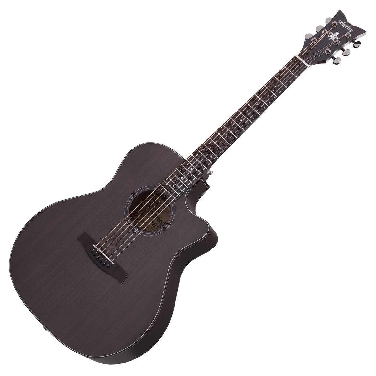 schecter orleans studio acoustic guitar satin see thru black at gear4music. Black Bedroom Furniture Sets. Home Design Ideas