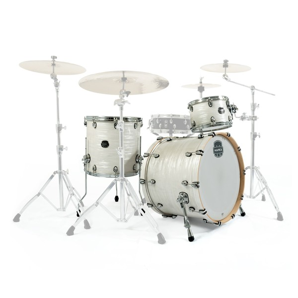 "Mapex Saturn V Tour Edition 22"" 3pc Shell Pack, White Marine"