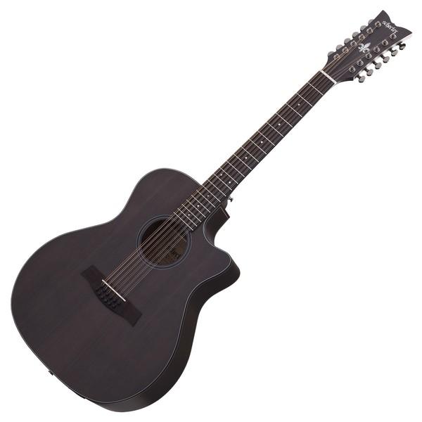 Schecter Orleans Studio 12 Sting Acoustic Guitar, See Thru Black