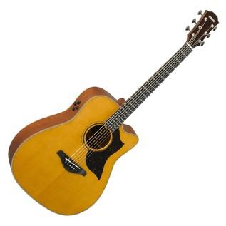 Yamaha A5M Mahogany Electro Acoustic Guitar, Vintage Natural main