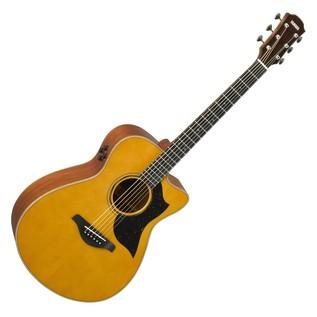 Yamaha AC5M Mahogany Electro Acoustic Guitar, Vintage Natural main