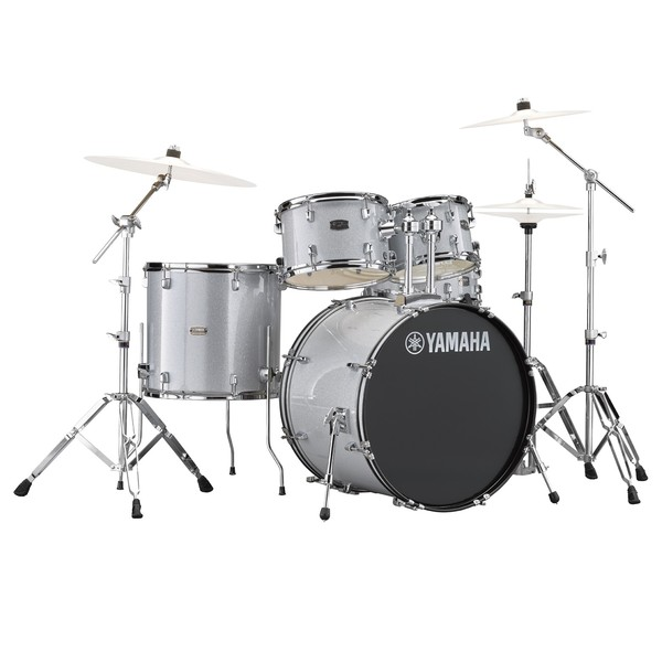 """Rydeen 20"""" Silver Drum Kit With Hardware"""