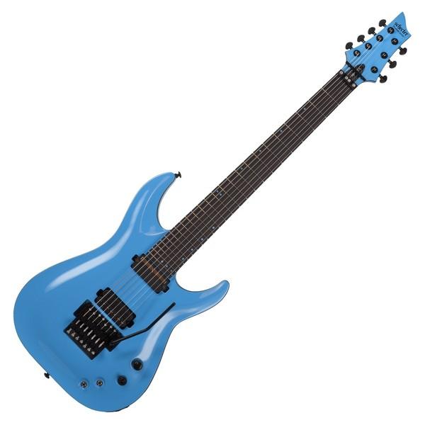 Schecter Keith Merrow KM-7 FR S Electric Guitar, Lambo Blue