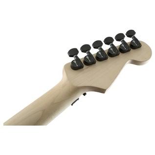 San Dimas Style 1 Left Handed Black Guitar Headstock
