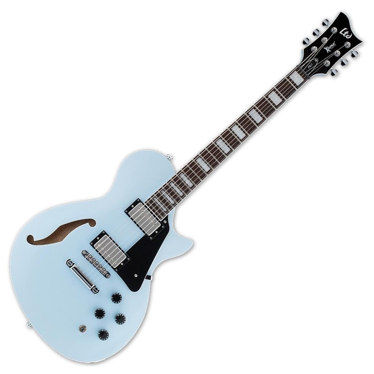 esp ltd ps 1 xtone series semi hollow electric guitar sonic blue at gear4music. Black Bedroom Furniture Sets. Home Design Ideas