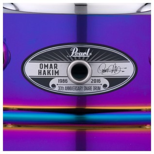 Pearl Omar Hakim 30th Anniversary Ltd. Signature Snare Drum  Logo