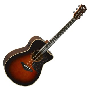 Yamaha AC3R Rosewood Electro Acoustic Guitar, Tobacco Brown Sunburst front main
