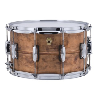 Ludwig 14'' x 8'' Copperphonic Raw Snare Drum, Front