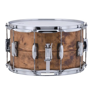 Ludwig Copperphonic Raw Snare Drum, Right Side