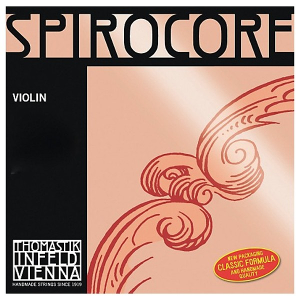 Thomastik Spirocore Violin G String, Silver Wound, 4/4 Size, Medium
