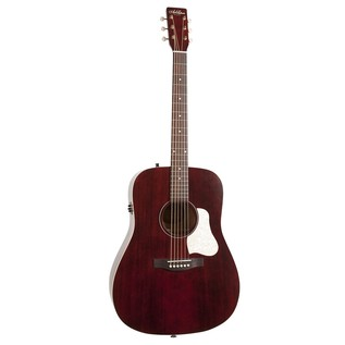 Art & Lutherie Americana Electro Acoustic Guitar, Red