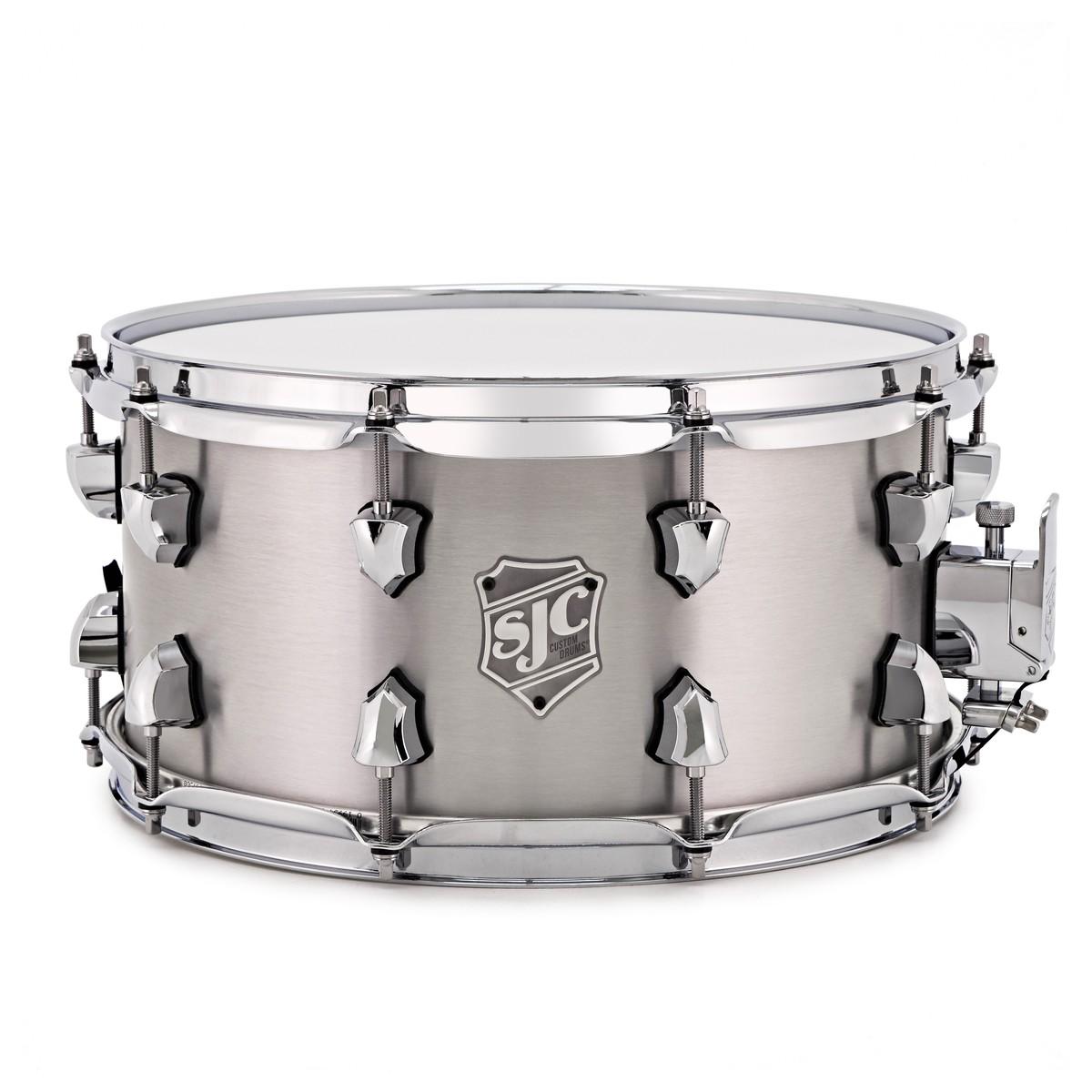 SJC Drums 14\'\' x 7\'\' Titan Snare Drum, Brushed Aluminium at ...
