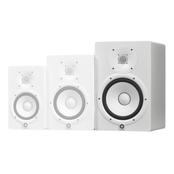 Yamaha HS8W Full-Range Studio Monitors, White