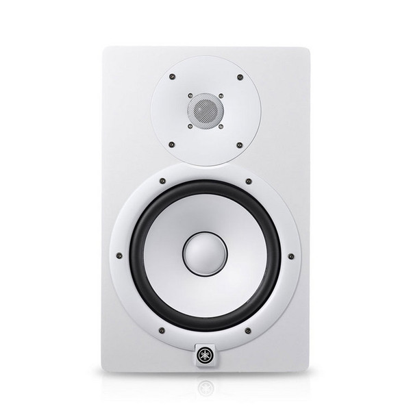 Yamaha HS8W Full-Range Studio Monitor, White