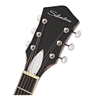 Silvertone 1423 Electric Guitar, Blackgold (Carl DeArmond Pickups)
