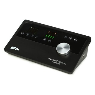 Apogee Quartet Audio Interface with Pro Tools Software- Angled Top