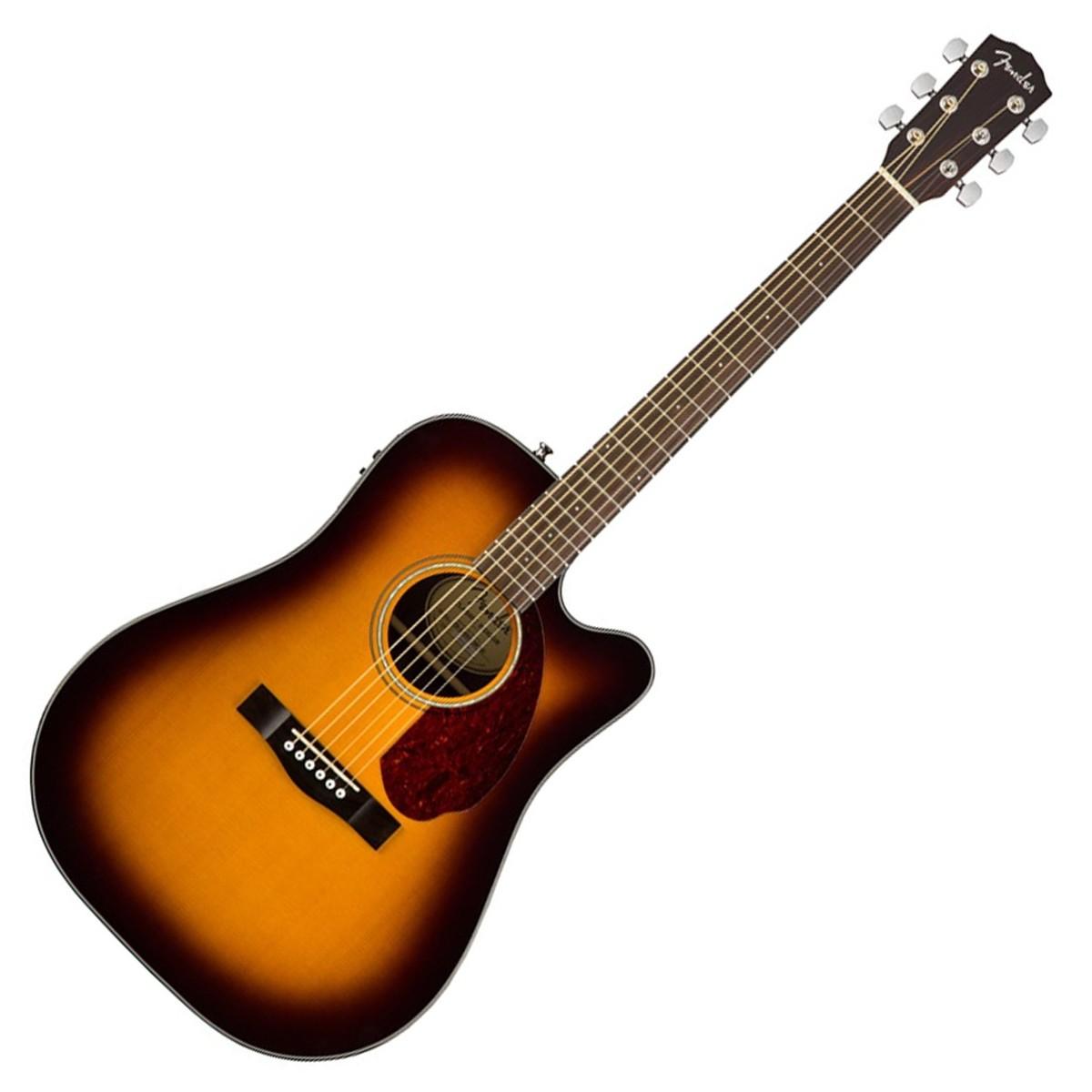 fender cd 140sce dreadnought electro acoustic guitar sunburst at gear4music. Black Bedroom Furniture Sets. Home Design Ideas