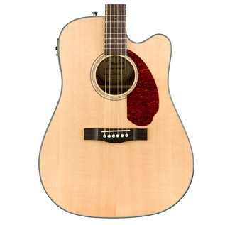 Fender CD-140SCE Dreadnought Electro Acoustic Guitar, Natural Close