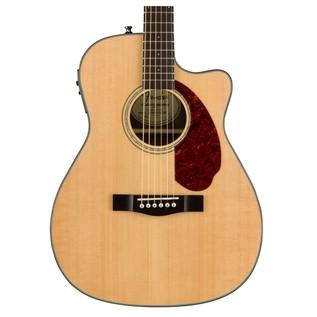 Fender CC-140SCE Concert Electro Acoustic Guitar, Natural Close