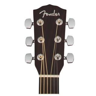 Fender CC-140SCE Concert Electro Acoustic Guitar, Natural Headstock