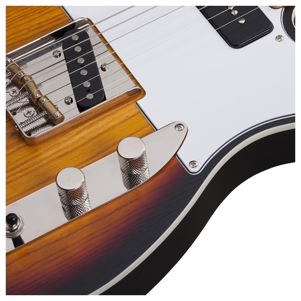 schecter pt special electric guitar  3 tone sunburst pearl