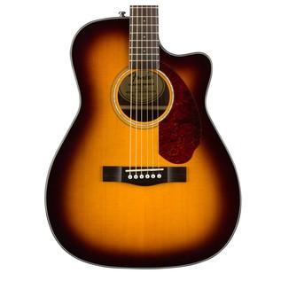 Fender CC-140SCE Concert Electro Acoustic Guitar, Sunburst Close