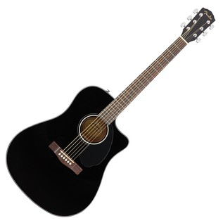 Fender CD-60SCE Dreadnought Electro Acoustic Guitar, Black