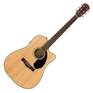 Fender CD-60SCE Dreadnought Electro Acoustic Guitar, Natural