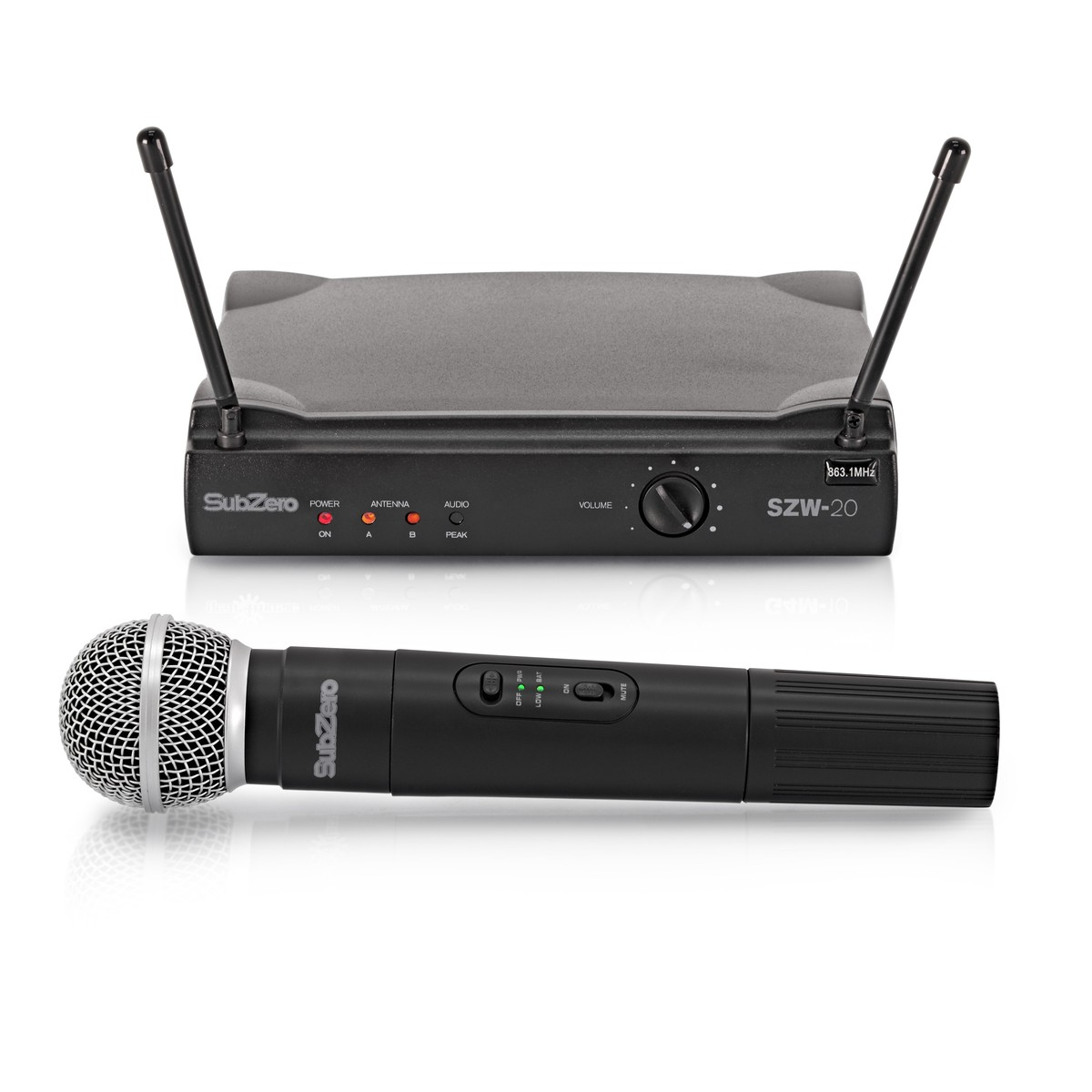 subzero szw 20 handheld wireless microphone system at gear4music. Black Bedroom Furniture Sets. Home Design Ideas