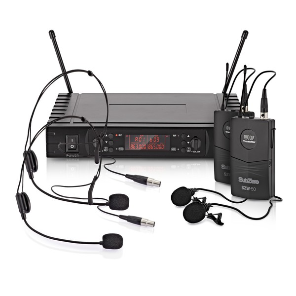 SubZero SZW-50 Lavalier and Headset Wireless Microphone System