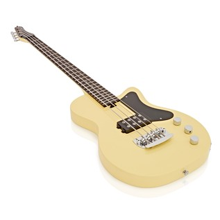 Silvertone 1444 Razor Bass Guitar, Vintage Cream