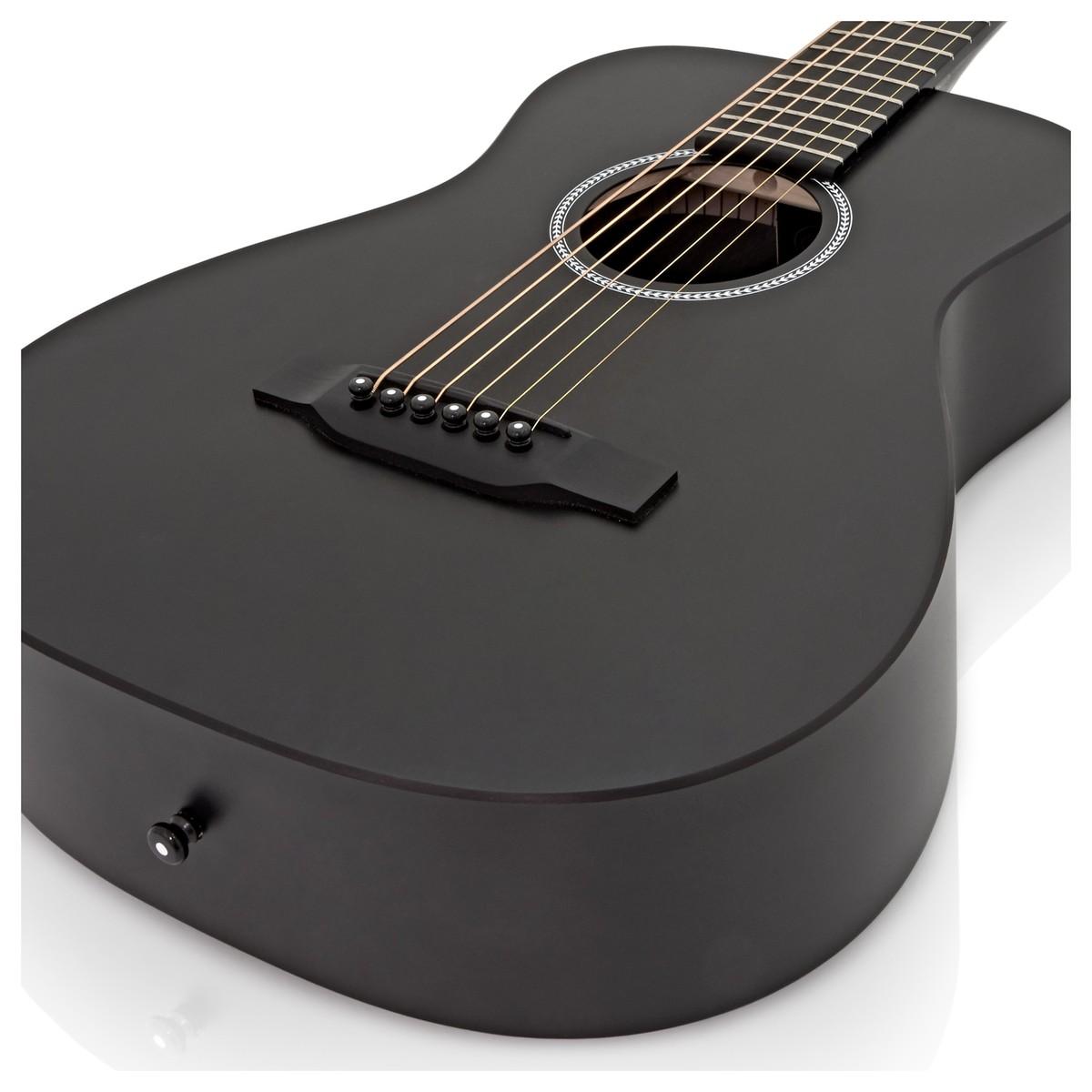 martin lx little martin guitar black inc gig bag at gear4music. Black Bedroom Furniture Sets. Home Design Ideas