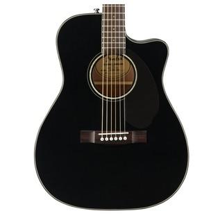 Fender CD-60SCE Concert Electro Acoustic Guitar, Black Close