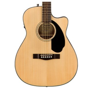 Fender CC-60SCE Concert Electro Acoustic Guitar, Natural Close