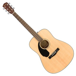 Fender CD-60S Left Handed Acoustic Guitar, Natural