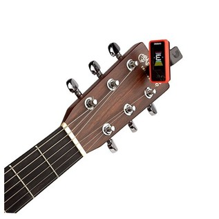 D'Addario Eclipse Tuner, Red With Acoustic