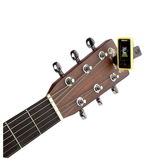 D'Addario Eclipse Tuner, Yellow With Acoustic