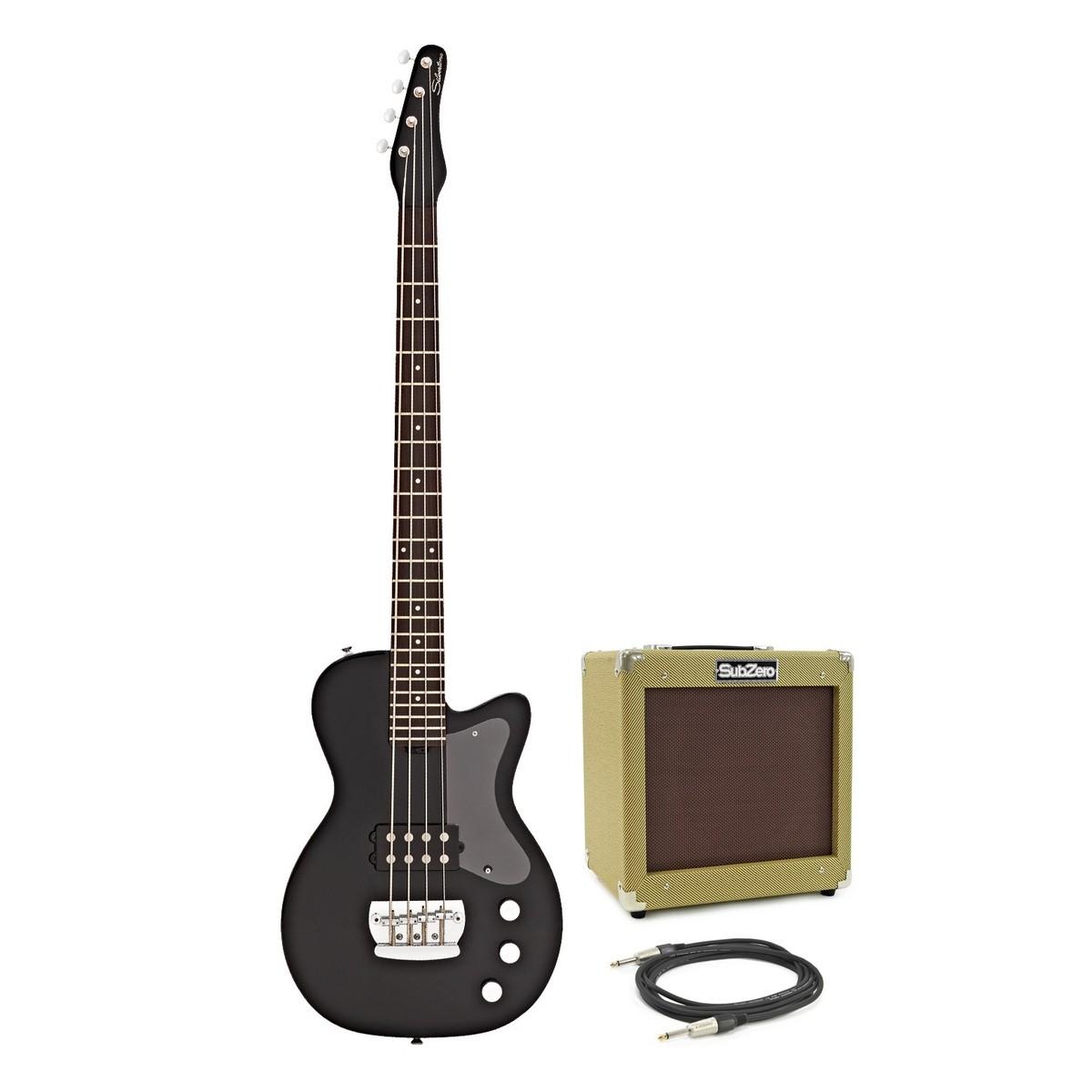silvertone 1444 razr bass guitar with v35b amp black at gear4music. Black Bedroom Furniture Sets. Home Design Ideas