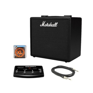Marshall CODE25 Digital Guitar Amp with PEDL-91009 Footswitch Bundle